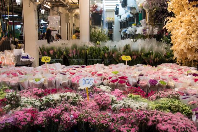 mercado flores Bangkok PAK KHLONG TALAT