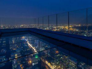 Glass Tray en Mahanakhon Skywalk - Bangkok